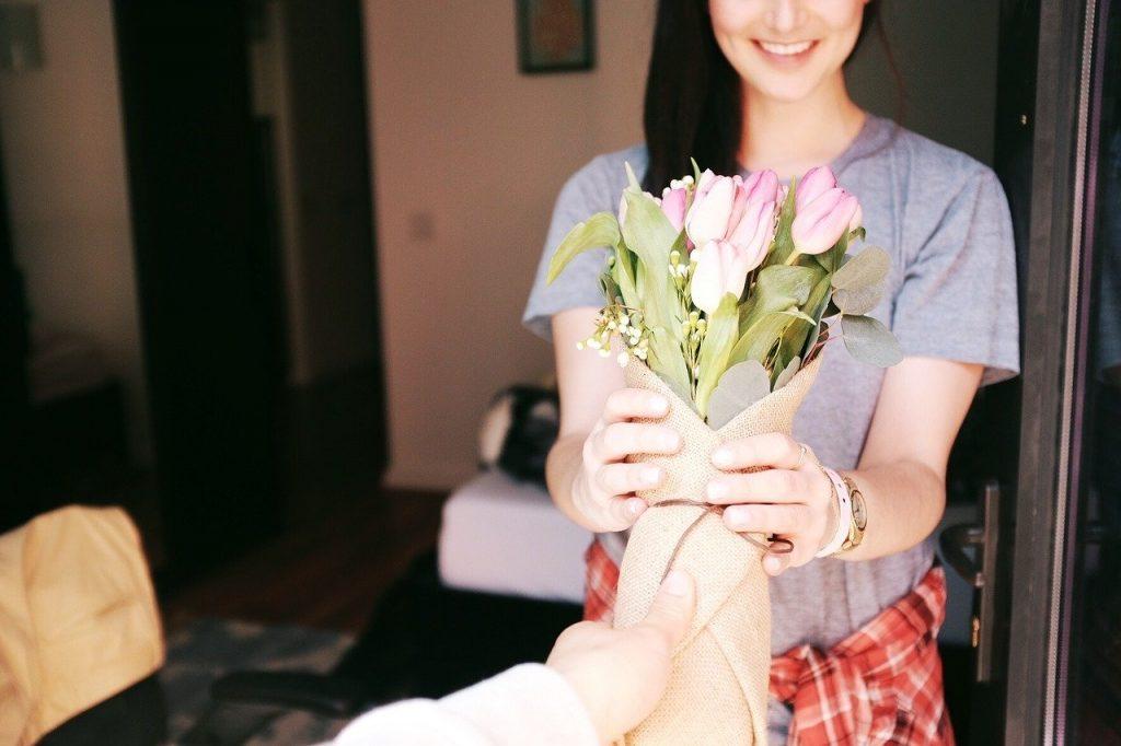 las flores dan felicidad