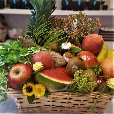 Floristería Rosa Rosam - Cesta de plantas y frutas