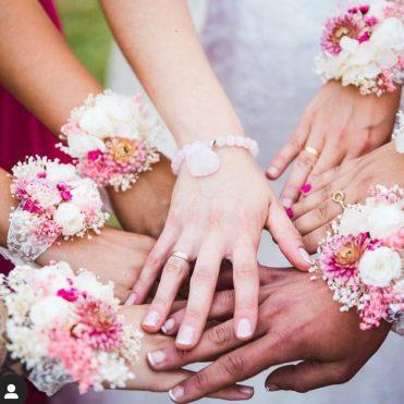 Pulseras florales